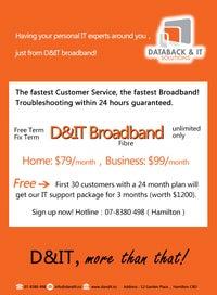 D&IT Fibre Broadband in Hamilton