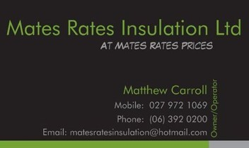 Mates Rates Insulation Ltd @ Affordable Prices