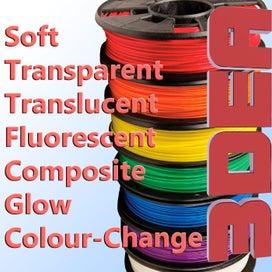 PLA Filament - 1kg Soft Black 1 75mm 3D Printer