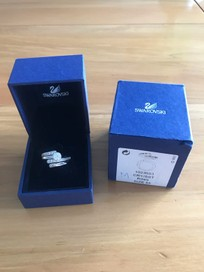 dcf81ca0d Swarovski Radiance Ring Set of 2 1023653 (size 55) | Trade Me