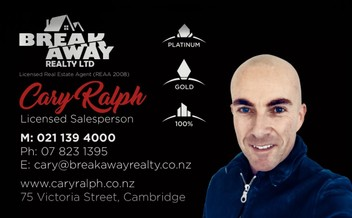 CARY RALPH - WAIKATO WIDE REAL ESTATE SALESPERSON