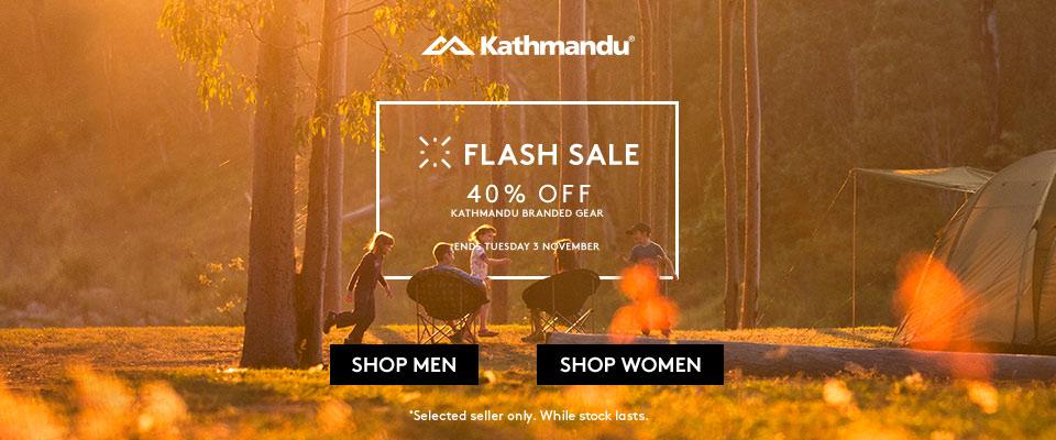 Flash Sale – 40% off Kathmandu branded gear!