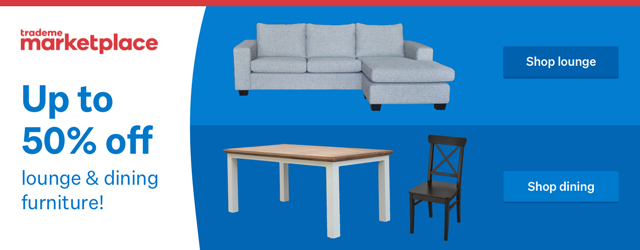 Up to 50% off lounge & dining furniture