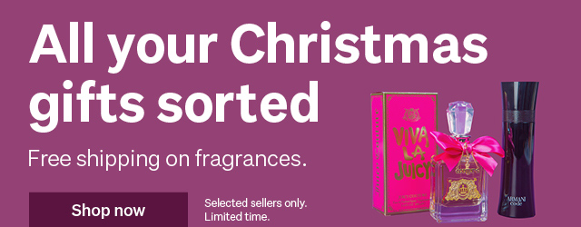 Free shipping on selected fragrances for Christmas