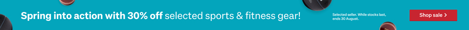 30% off sports and fitness clothing & gear