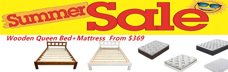 Wooden bed + mattress